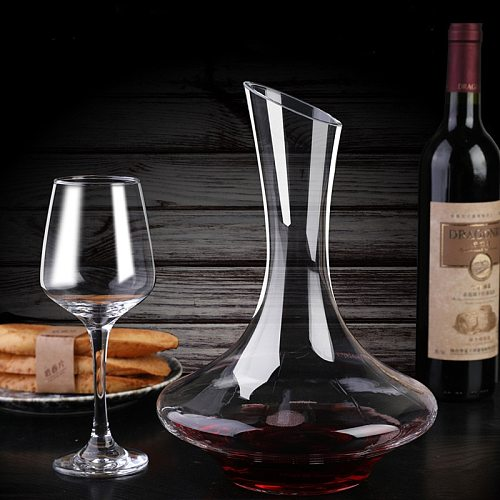 Creative Wine Separator Big Bottle Handmade Crystal Red Wine Brandy Champagne Glasses Decanter Bottle for Family Bar
