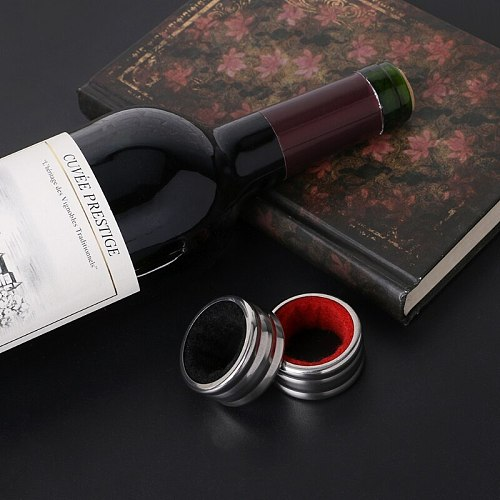 Hot Sell Practical Stainless Steel Red Wine Bottle Drip Drop Proof Stop Ring Bar Tools Drop Ship