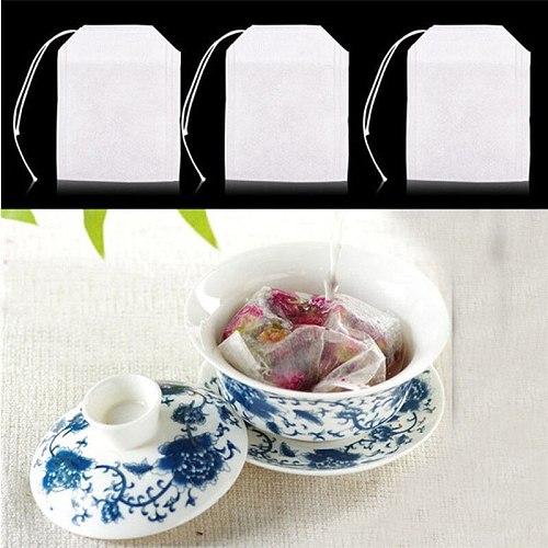 100pcs Teabags Empty Scented Tea Bags Infuser With String Heal Seal Filter Paper Herb Loose Tea bolsas de papel 5.5 X 7CM