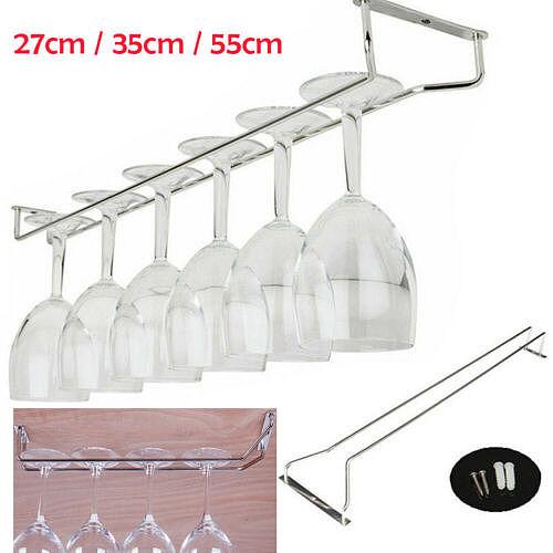 27/35/55cm Wine Glass Hanger Rack Stemware Home Bar Pub Holder Stainless Steel Holders New