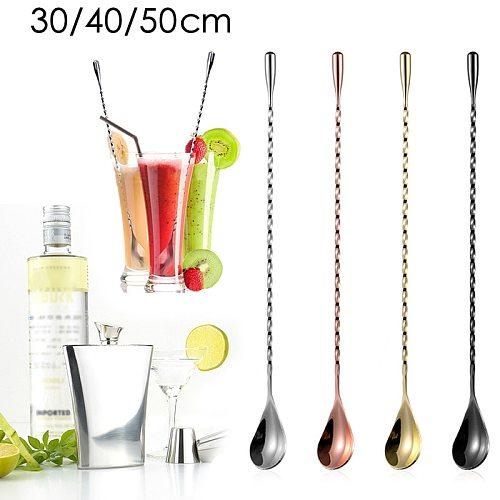 Stainless Steel Water Drop Bar Spoon Fine Thread Bar Spoon Cocktail Stirring Bartending Bar Teardrop Bar Mixing Spoon