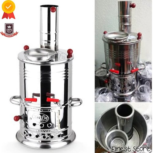 Stainless Steel Samovar Wood Stove Camping Equipment Kettle Coffee Machine Outdoor Camping Kitchenaid bbq picnic Kitchen