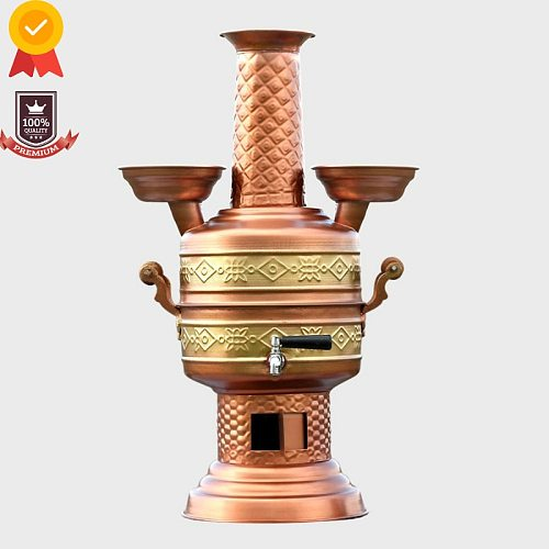 Tea Urn Kettle Stainless Steel Samovar 5 Liter Wood Stove Camping Supplies Outdoor Camping Utensils kitchen bbq picnic Electric
