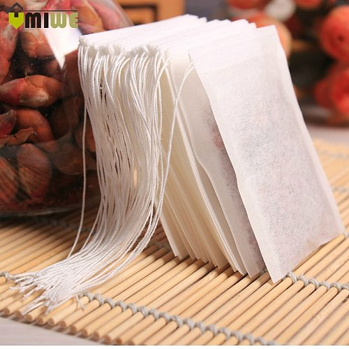 Hot Sale 3 Sizes 100 PCs/Lots Empty Teabags Scented Drawstring Bag With String Heal Seal Filter Paper for Herb Loose Tea Bolsas