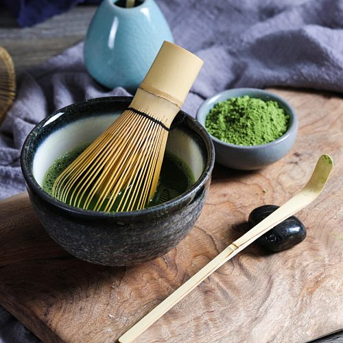 1PC Japanese Matcha Green Tea Powder Whisk Matcha Bamboo Whisk Bamboo Chasen Useful Brush Tools Handmade Kitchen Accessories