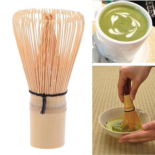 Pro Handicrafted Bamboo Matcha Chasen Green Tea Powder Whisk Holder Scoop
