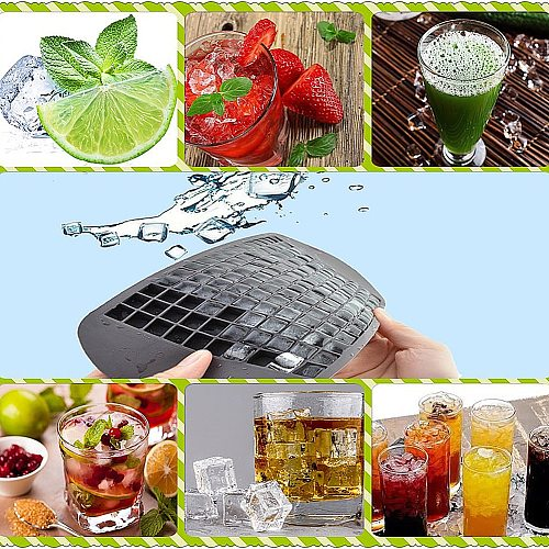 Ice Cube Tray 160 Grids Silicone Square Ice Tray Cake Chocolate Jelly Mold DIY Baking Tool Whiskey ball ice cube maker