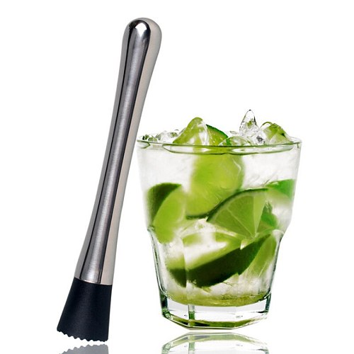 Lemon Metal Masher Stir Bar Bartenders Tools Cocktail Muddler,Swizzle Sticks,Broken Popsicle Sticks,Lemon Citrus Crushing Hammer