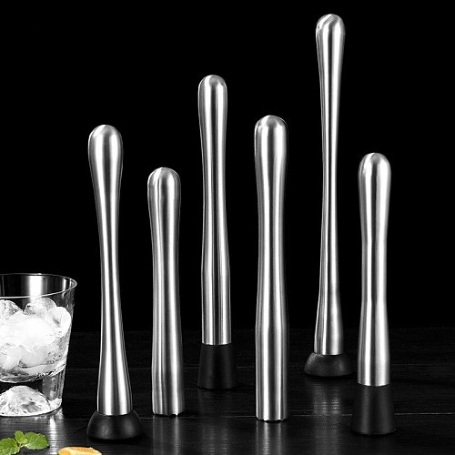Cocktail Muddler Stainless Steel Bar Mixer Bar Utensils Accessories Mojito Cocktail DIY Fruit Juice Muddler Crushed Ice Bar