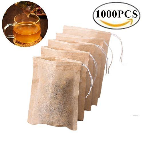 1000pcs Biodegradable Paper Teabags Drawstring eco-friendly Tea Bag Filter Paper Empty Tea Bags for Loose Leaf Tea Powder Herbs