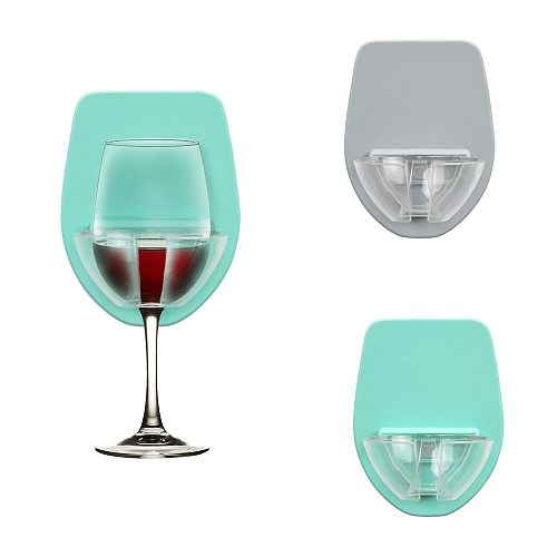 New Plastic Wine Glass Holder For The Bath Shower Red Wine Glass Silky Strong Wine Glass Storage Rack Kitchen Rack Hanging