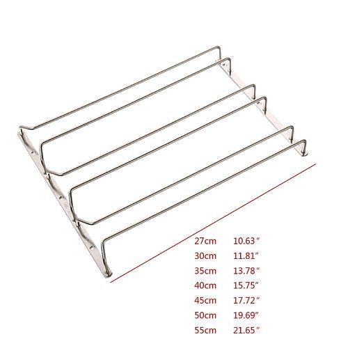 3 Rows Wine Glass Rack Under Cabinet Stemware Wine Glass Holder Glasses Storage Hanger Metal Organizer for Kitchen Bar
