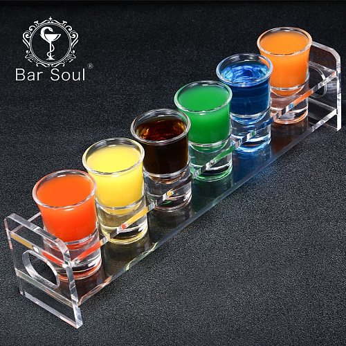 Bar Soul Shot Glasses Holder 6 Hole 12 Hole B52 Cocktail Green Grasshopper Solid Wood Acrylic Cup Holder Creative Bar Tools