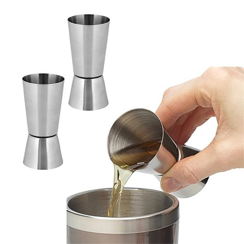 15/30ml Or 25/50ml Stainless Steel Cocktail Shaker Measure Cup Dual Shot Drink Spirit Measure Jigger Kitchen Gadgets Bar Tools