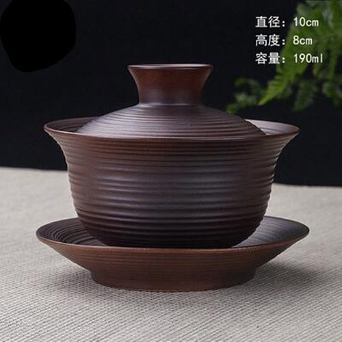High Quality Teaset Elegant Gaiwan Chinese Tea Cup purple clay tureen High Capacity lid bowl saucer tea brew cup yixing teapot