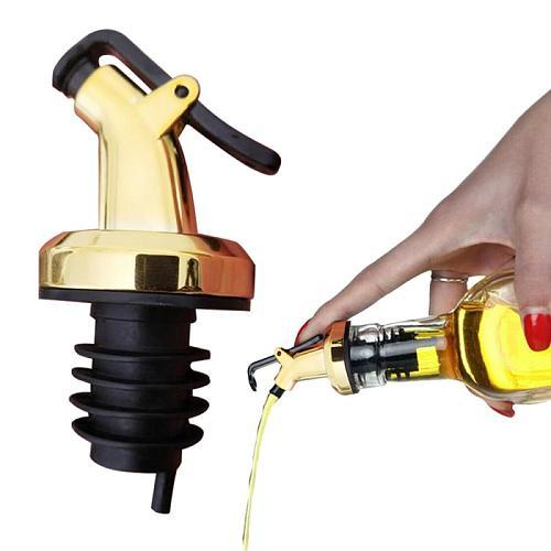 Hip Flask Pouring Olive Oil Bottle Stopper Dispenser Rubber Leakproof Sealing Cork Stopper Kitchen Tools Bar Gadget Dropshipping