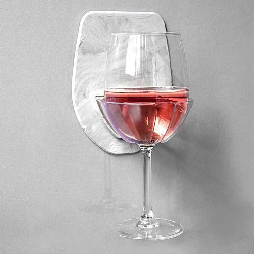Silicone Wine Glass Holder Bathroom Shower Kitchen Red Wine Cup Storage Hanging Rack Wine glass storage rack