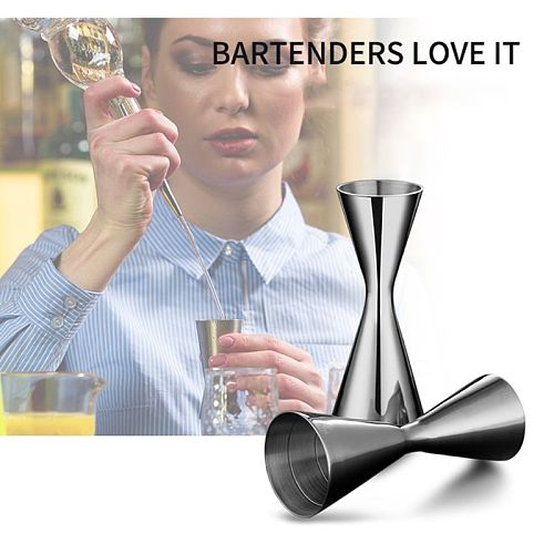 30/45ml 30/60ml Stainless Steel Cocktail Wine Shaker Measure Cup Double Shot Drink Kitchen Gadgets Tool