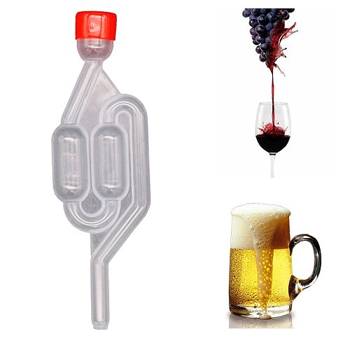 Beer S Bubble Airlock with Dust Cap Exhaust One way Home Brew Wine Fermentation Airlock  Plastic Air Lock Check Valve