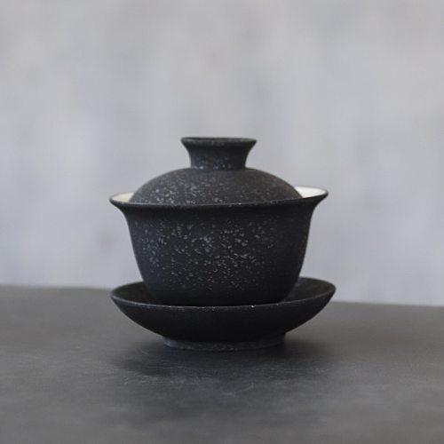 LUWU black crockery ceramic gaiwan porcelain tureen tea makers 150ml