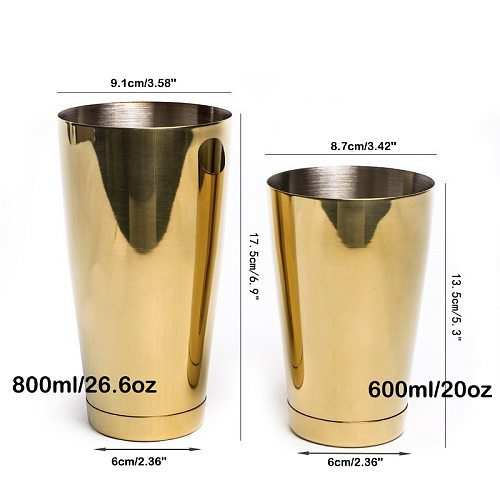Stainless Steel Boston Shaker Bar Shaker with different Surface Finish -2 Piece Cocktail Shaker, 15-Ounce and 25-Ounce