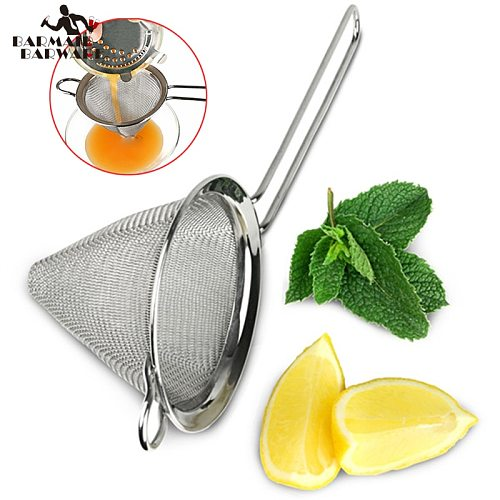 1pcs 304 Stainless Steel Conical Cocktail Sieve Great For Removing Bits From Juice Julep Strainer Cocktail Strainer Bar Strainer