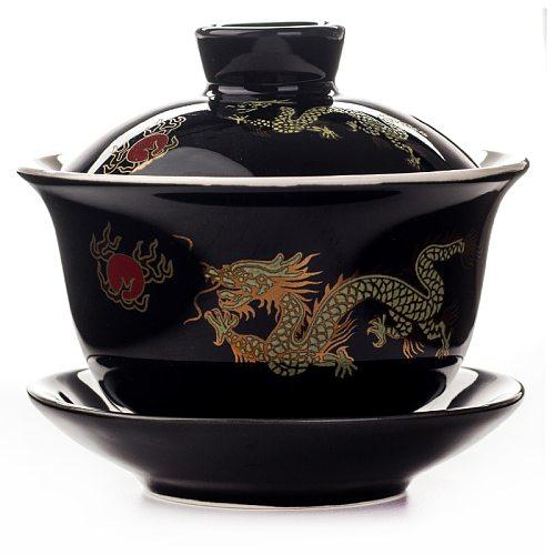 1PC Chinese Hand Painted Ceramic Gaiwan Teaset Elegant Gaiwan Tea Cup Teaware Tureen Lid Bowl Saucer Tea Brew Kung Fu Tea Cup