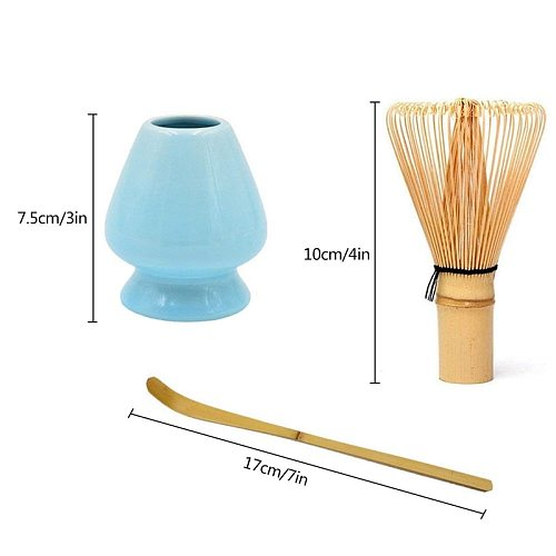 Japanese Bamboo Matcha Whisk Brush Professional Green Tea Powder Whisk Chasen Tea Ceremony Bamboo Brush Tool Grinder(White)