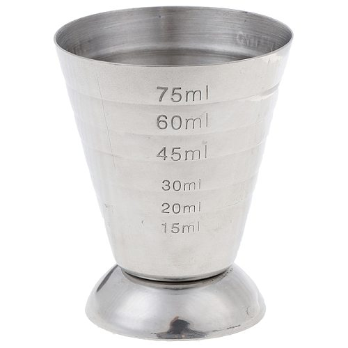 1 Pc Stainless steel Measure Cup Shot Bar Mixed Cocktail Beaker 75ml Bartending Measuring Cup Bar Tools Kitchen Tools