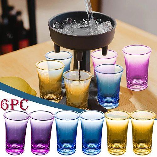 7PCS 6 Shot Glass Dispenser Holder Liquor Dispenser Wine Whiskey Beer Rack Bar Accessories Party Shot Glass Drinking Tools
