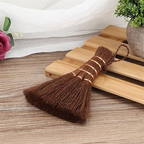 Natural Handmade Matcha Bamboo Broom Matcha Tea Countertop Tea Brush Mini Cleaning Broom Tea Brush Kitchen Teaware