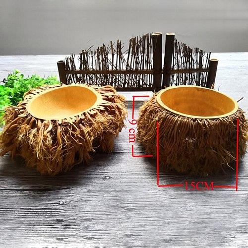 Bamboo root tea wash tea bowl tea pot handmade tea set pure natural bamboo products health and environmental protection X-060