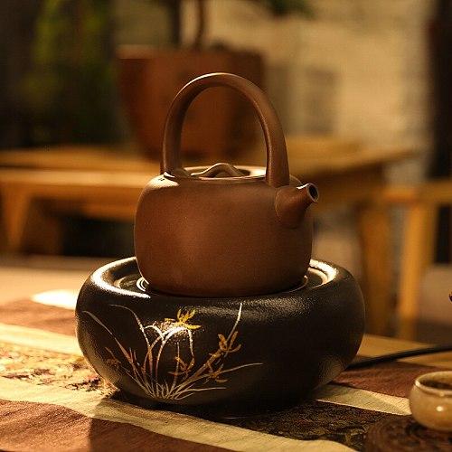 Household Furnace Electric Heating Furnace Mute Iron Pot Pottery Pot Copper Pot Mini- Water Boiler Boil Water Furnace Tea Set