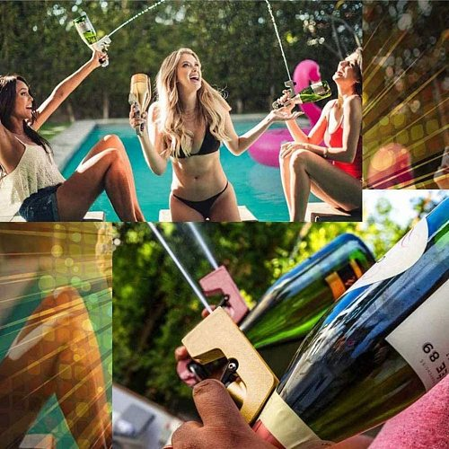 Second-generation Champagne Wine Sprayer Champagne Squirt Gun Shoot 30 Feet away Magic Wine Decanter Kitchen Parties Bar Tools