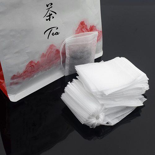 100Pcs Tea 5.5*7cm Filter Paper Bags Disposable green tea Drawstring With String Heal Safe Loose Tea Strong Penetration Tea bags