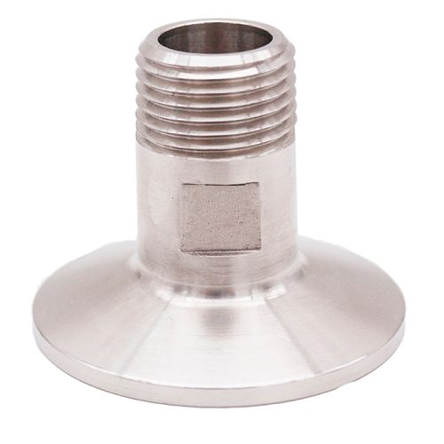 1.5  TC x 1/2  MPT, Stainless Steel 304, 3A Standard, Homebrew Clover Fitting