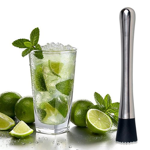 1Pcs Crushed Ice Hammer Popsicle Sticks Cocktail Swizzle Stick Stainless Steel Multifunction Fruit Muddle Pestle Wine Supplies