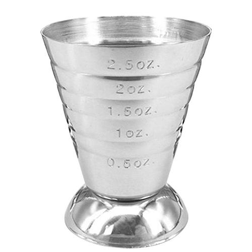 1PC 75ML Stainless Steel Measure Cup Cocktail Tool Bar Mixed Drink Accessories 3 In 1 Cocktail Tools Bar Jigger Cup