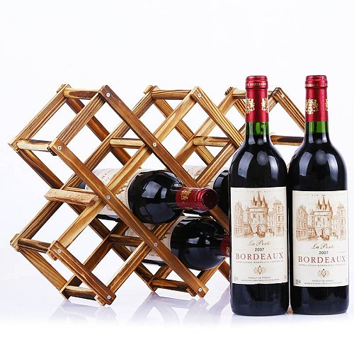 Quality Wooden Wine Bottle Holders Creative Practical Collapsible Living Room Decorative Cabinet Red Wine Display Storage Racks