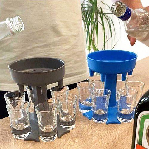 6 Shot Glass Dispenser Holder Bar Wine Whisky Beer Dispenser Accessories Caddy Liquor Dispenser Party Games Drinking shot glasse