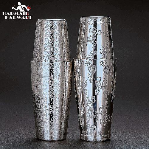 550ml/850ml Engraving Stainless Steel Cocktail Boston Bar Shaker Bar Tools