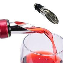1PCS Qualified Practicality Liquor Spirit Pourer Flow Wine Bottle Pour Spout Stopper Stainless Steel Cap Red Wine Stopper