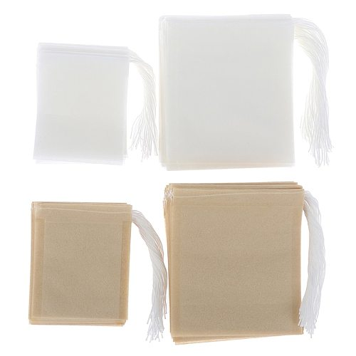 100Pcs/Lot Paper Tea Bags Filter Empty Drawstring Teabags for Herb Loose Tea