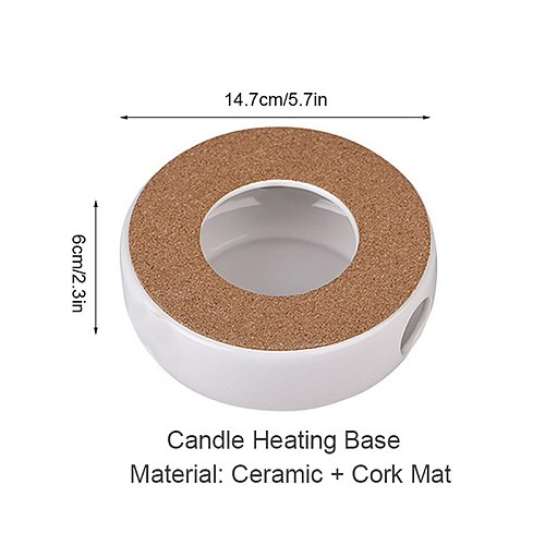 YMEEI White Heat-Resisting Teapot Warmer Insulation Base Household Coffee Boiling Water Warmer Candle Holder Tea Accessories