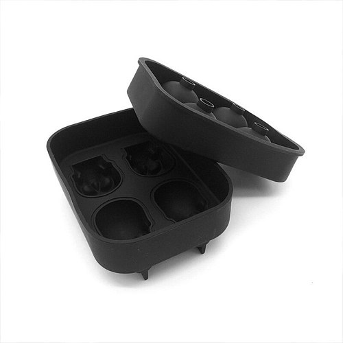 Food Silicone Ice Cube Skull Mold Whiskey Drink Ice Ball Maker Tray 4 In 1 DIY Ice Maker Christmas Gift Silicone Taro Ice Cube