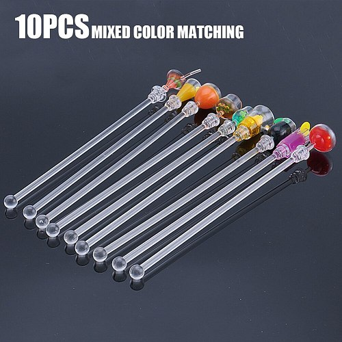 Pack Of 10 Bar Tool Wine Stirring Juice Party Acrylic Stirrers Swizzle Stick 23cm Cocktail Drink Mixer