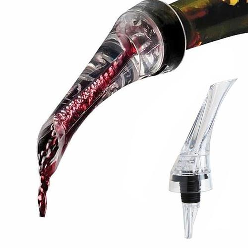 1Pc Portable Wine Decanter Red Wine Aerating Pourer Spout Decanter Wine Aerator Quick Aerating Pouring Tool Pump