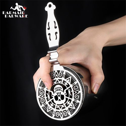 Skull And Mechanical Watch Bar Strainer Sprung Cocktail Strainer Stainless Steel Deluxe Strainer Bar Tools