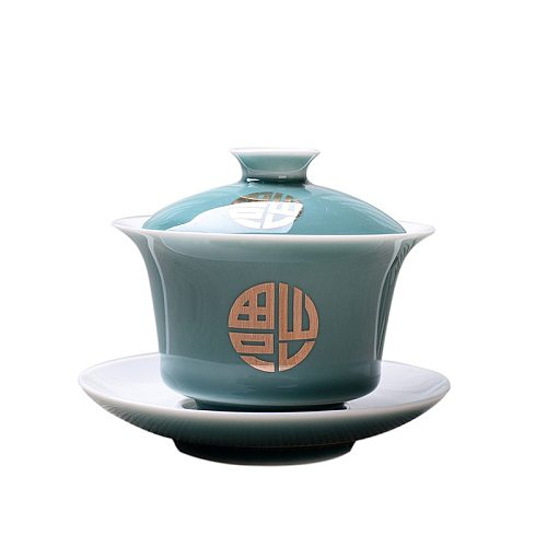 150ml KungFu Tea Set Advanced Obsidian Tea Tureen,Chinese Kung Fu Flower Gaiwan Puer Kettle,Teapot lovers must have