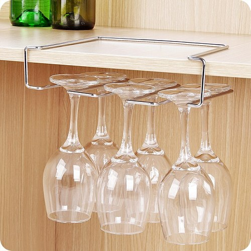 Stainless steel wine glass rack upside down wine rack goblet rack nail-free hanging wine hanging cup holder WF9111115